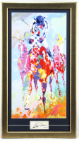 "LeRoy Neiman Signed ""Secretariat"" 17.5x32 Custom Framed Cut Display with Vintage Lithograph (PSA Hologram) at PristineAuction.com"