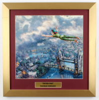 "Thomas Kinkade's ""Peter Pan"" 16x16 Custom Framed Print Display at PristineAuction.com"
