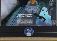 Vintage 1977 Coca Cola Star Wars 22x30 Custom Framed Poster Display With Darth Vader Pin at PristineAuction.com