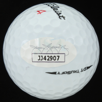 Justin Thomas Signed Titleist Golf Ball with Display Case (JSA COA) at PristineAuction.com
