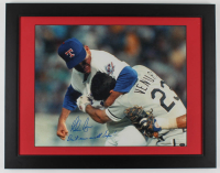 "Nolan Ryan Signed Rangers 21x27 Custom Framed Photo Display Inscribed ""Don't Mess With Texas!"" (Ryan Hologram) at PristineAuction.com"