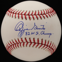 "Ozzie Smith Signed OML Baseball Inscribed ""82 W.S. Champs"" (Beckett COA) at PristineAuction.com"