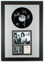 REO Speedwagon 23.5x33.5 Custom Framed Vinyl Record Display Band-Signed by (5) with Bruce Hall, Dave Amato, Bryan Hitt, Neal Doughty & Kevin Cronin (JSA COA) at PristineAuction.com
