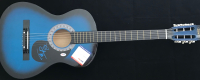 "Alex Pall & Andrew Taggart ""The Chainsmokers"" Signed 38"" Blue Full-Size Acoustic Guitar (PSA COA) at PristineAuction.com"