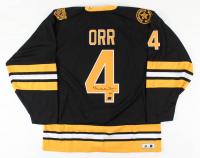 Bobby Orr Signed Bruins Authentic 1975-1976-Style Throwback On-Ice Game Jersey (Orr Hologram) at PristineAuction.com