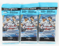 Lot of (3) 2020 Topps Chrome Baseball Value Packs at PristineAuction.com