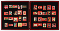 The Coca-Cola Pin Collection of (40) Pins with Wood Box at PristineAuction.com
