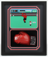 Mike Tyson Signed 22x26x6 Custom Framed Boxing Glove Shadowbox Display (Fiterman Hologram) at PristineAuction.com