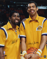 Magic Johnson & Kareem Abdul-Jabbar Signed Lakers 16x20 Photo (Radtke COA) at PristineAuction.com