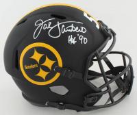 "Jack Lambert Signed Steelers Full-Size Eclipse Alternate Speed Helmet Inscribed ""HOF 90"" (Beckett COA) (See Description) at PristineAuction.com"