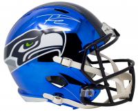 Russell Wilson Signed Seahawks Full-Size Chrome Speed Helmet (Beckett COA & Wilson Hologram) at PristineAuction.com