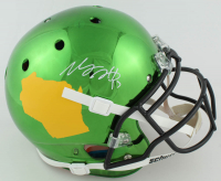 Davante Adams Signed Full-Size Authentic-On Field Chrome Helmet (JSA COA) at PristineAuction.com