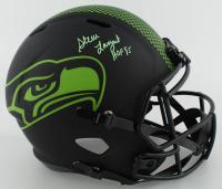 "Steve Largent Signed Seahawks Full-Size Eclipse Alternate Speed Helmet Inscribed ""HOF 95"" (Beckett COA) at PristineAuction.com"