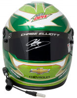 Chase Elliott Signed NASCAR Mountain Dew Full-Size Helmet (Beckett COA, Elliott Hologram & PA Hologram) at PristineAuction.com