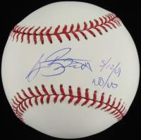 "A. J. Burnett Signed OML Baseball Inscribed ""5/12/01 No-No""  (SOP COA) at PristineAuction.com"