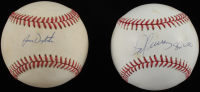 """Lot of (2) Signed Assorted  Baseballs With Lenny Dykstra & Sid Fernandez Inscribed """"86 WSC"""" (SOP COA) at PristineAuction.com"""