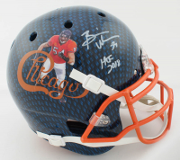 "Brian Urlacher Signed Full-Size Authentic On-Field Hydro-Dipped Helmet Inscribed ""HOF 2018"" (Beckett COA) at PristineAuction.com"