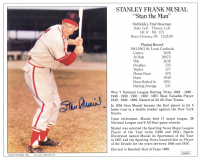 Stan Musial Signed Cardinals 8x10 Career Highlight Stat Card (JSA COA) at PristineAuction.com