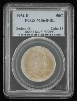 1945-D 50¢ Franklin Silver Half-Dollar (PCGS MS64FBL) at PristineAuction.com
