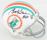 "Bob Griese Signed Dolphins Mini-Helmet Inscribed ""HOF '90"" (JSA COA) at PristineAuction.com"