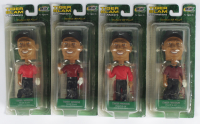 "Lot of (4) Tiger Woods ""Tiger Slam"" Upper Deck Playmakers Bobble Head Figures with 2000 U.S. Open, 2000 British Open, 2000 PSA Championship, & 2001 Masters Tournament at PristineAuction.com"