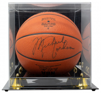 Michael Jordan Signed Official NBA Game Ball Basketball with Display Case (PSA LOA) at PristineAuction.com