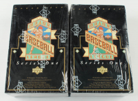 Lot of (2) 1993 Upper Deck Series 1 Baseball Retail Boxes with (36) Packs Each at PristineAuction.com