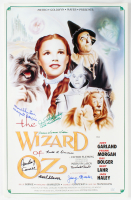 """Wizard of Oz"" 16x24 Movie Poster Signed by (8) Munchkins with Jerry Maren, Mickey Carroll, Karl Slover, Margaret Pelligroni, Ruth Duccini, Clarence Swenson, Meinhardt Raabe & Donna Stewart-Hardway (JSA COA) (JSA COA) at PristineAuction.com"