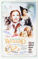 """""""Wizard of Oz"""" 16x24 Movie Poster Signed by (8) Munchkins with Jerry Maren, Mickey Carroll, Karl Slover, Margaret Pelligroni, Ruth Duccini, Clarence Swenson, Meinhardt Raabe & Donna Stewart-Hardway (JSA COA) (JSA COA) at PristineAuction.com"""