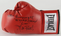 "Michael Bentt Signed Everlast Boxing Glove Inscribed ""WBO Heavyweight"", ""Miscast Champ"", & ""Loser"" (PSA COA) at PristineAuction.com"