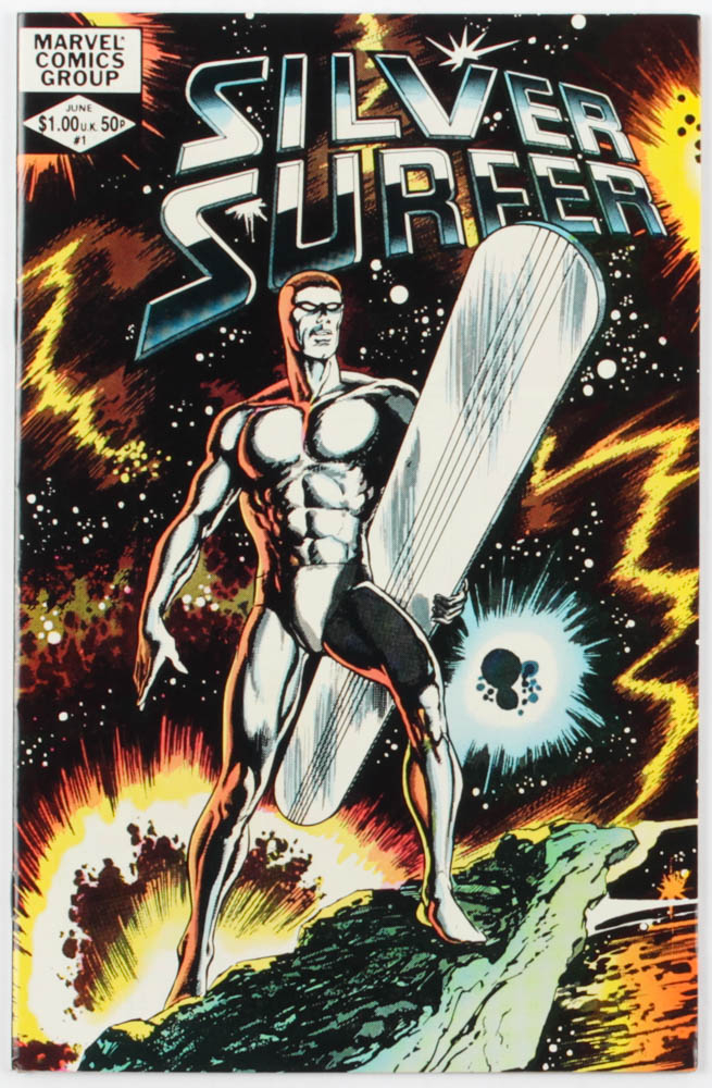 """1962 """"The Silver Surfer"""" Issue #1 Marvel Comic Book at PristineAuction.com"""