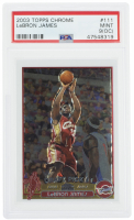 LeBron James 2003-04 Topps Chrome #111 RC (PSA 9) (OC) at PristineAuction.com
