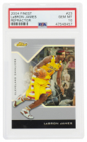 LeBron James 2004-05 Finest Refractors #23 (PSA 10) at PristineAuction.com