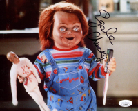 "Ed Gale Signed ""Child's Play"" 8x10 Photo Inscribed ""Chucky"" (JSA COA) at PristineAuction.com"