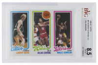 Larry Bird / Julius Erving / Magic Johnson 1980-81 Topps #6 RC (BVG 8.5) at PristineAuction.com