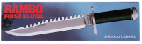 "Sylvester Stallone Signed ""Rambo First Blood"" Stainless Steel 9"" Knife (Beckett LOA) at PristineAuction.com"