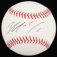 Matt Dominguez Signed OML Baseball (MLB Hologram) at PristineAuction.com