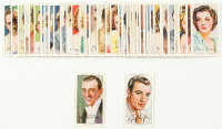 Complete Set of (50) 1938 Player's Film Stars with Gary Cooper, Fred Astaire, Spencer Tracy, Joan Crawford, Better Davis at PristineAuction.com