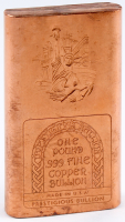 One Pound .999 Fine Copper Chubby Style Bullion Bar at PristineAuction.com