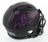 Miles Boykin Signed Ravens Eclipse Alternate Speed Mini Helmet (Beckett COA) at PristineAuction.com