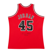 "Michael Jordan Signed LE Bulls ""I'm Back"" Jersey #23/145 (UDA COA) at PristineAuction.com"