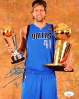 Dirk Nowitzki Signed Mavericks 8x10 Photo (JSA COA) at PristineAuction.com
