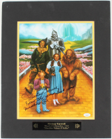 """Mickey Carroll Signed """"Wizard Of Oz"""" 16x20 Custom Matted Photo Display Inscribed """"Follow The Yellow Brick Road"""" & """"Munchkin Love"""" (JSA COA) at PristineAuction.com"""