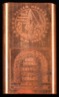"""One Pound .999 Fine Copper Chubby Style """"Fallen Heroes"""" Bullion Bar at PristineAuction.com"""