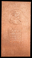 2011 One Kilo .999 Fine Copper Bullion Bar at PristineAuction.com