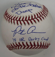 "Pete Alonso & Darryl Strawberry Signed OML Baseball Inscribed ""86 HR Derby Champ"" & ""19 HR Derby Champ"" (Fanatics Hologram) at PristineAuction.com"