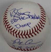 "Pete Alonso & Darryl Strawberry Signed OML Baseball Inscribed ""86 HR Derby Champ"" & ""19 HR Derby Champ"" (Fanatics Hologram) at PristineAuction.com"
