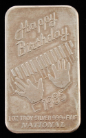 "1 Troy Oz .999 Fine Silver ""Happy Birthday"" Bullion Bar at PristineAuction.com"