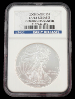 2008 American Silver Eagle $1 One-Dollar Coin - Early Releases (NGC Gem Uncirculated) at PristineAuction.com