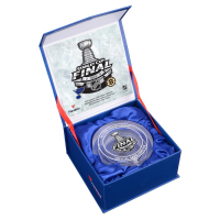 Bruins vs. Blues 2019 Stanley Cup Champions - Crystal Hockey Puck - Filled with Ice from the 2019 Stanley Cup Final (Fanatics COA) at PristineAuction.com